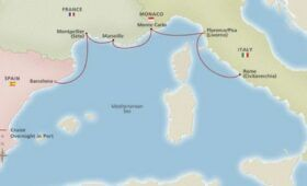 Best Western Mediterranean Cruise - Map