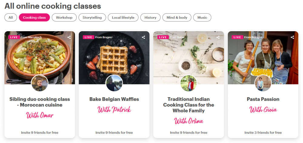 How To Connect Online With - Local Travel Hosts - Cooking Classes