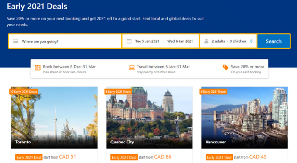 What's The Best Hotel Booking Site - Early 2021 Deals Page